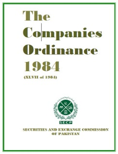 the companies ordinance 1984 (4) for registration of any existing company, except such companies as are by the ordinance exempted from payment of fees in respect of registration this ordinance, the same fee as is charged for registering a new company.